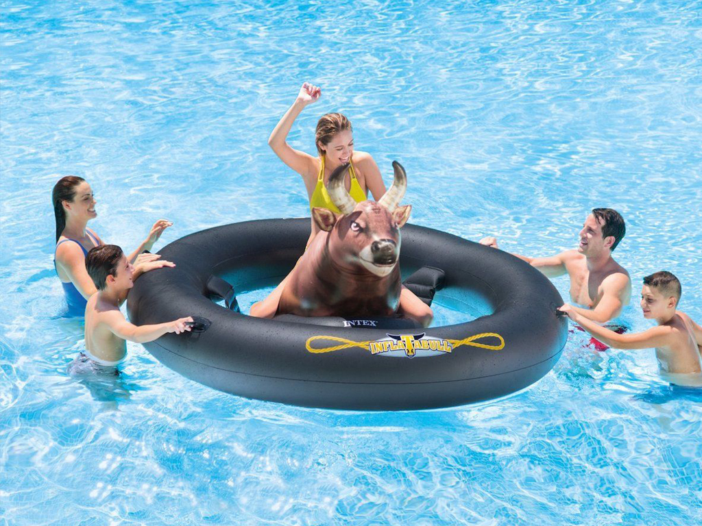 Intex Inflatabull Pool Floater - Make your pool party unforgettable and extraordinary with the Intex Inflatabull Pool Float.