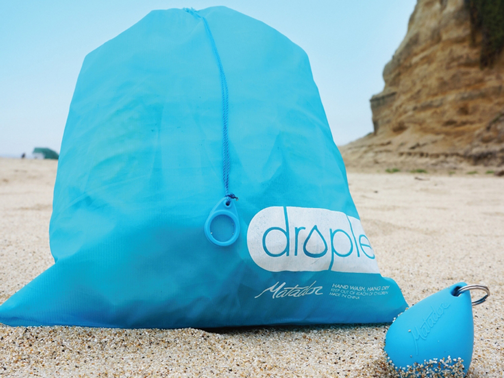 Matador Droplet Bag - With one pull away, you have an extra droplet bag ready to use.