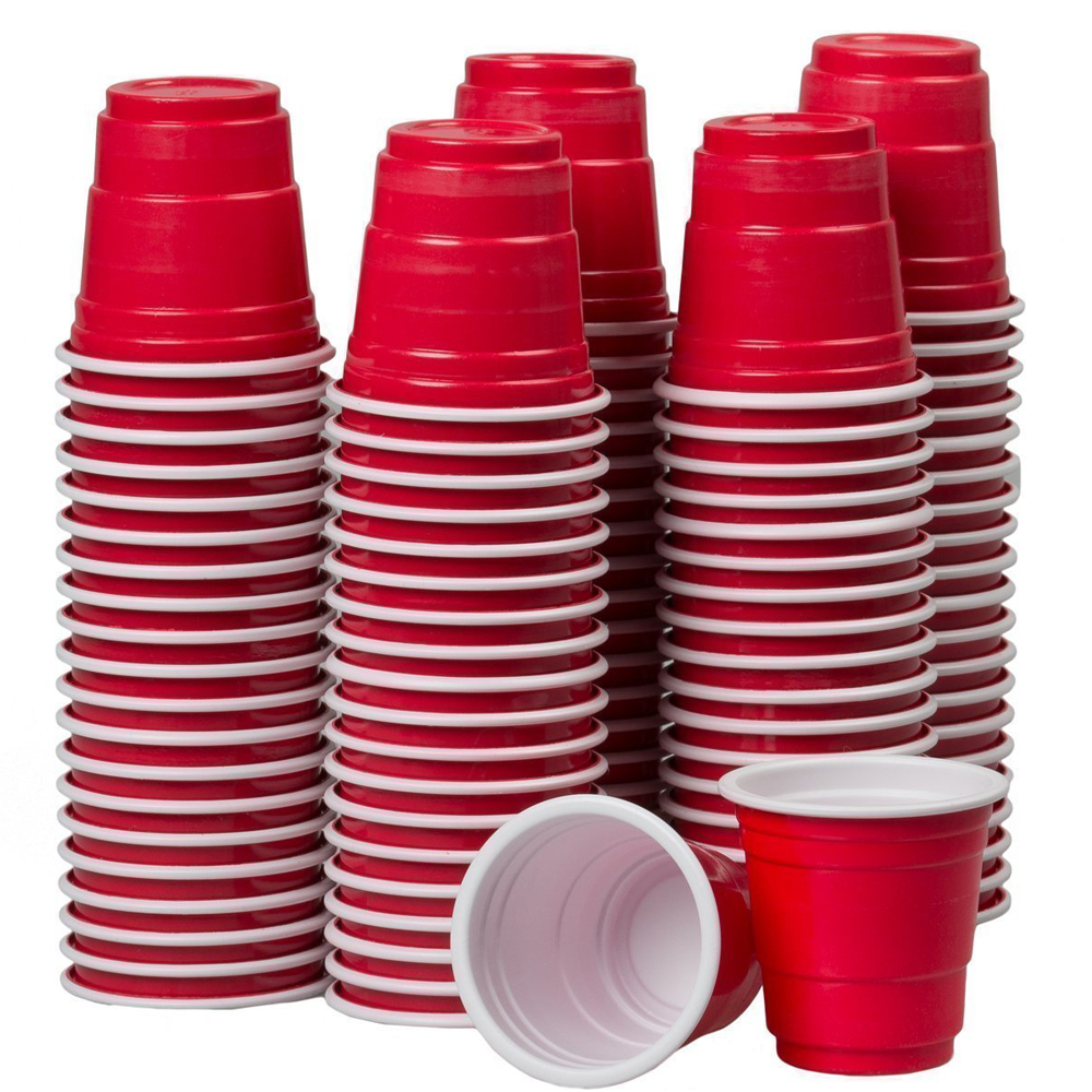 Disposable Cups - Who doesn't like saving money and not taking care of broken shot glasses.