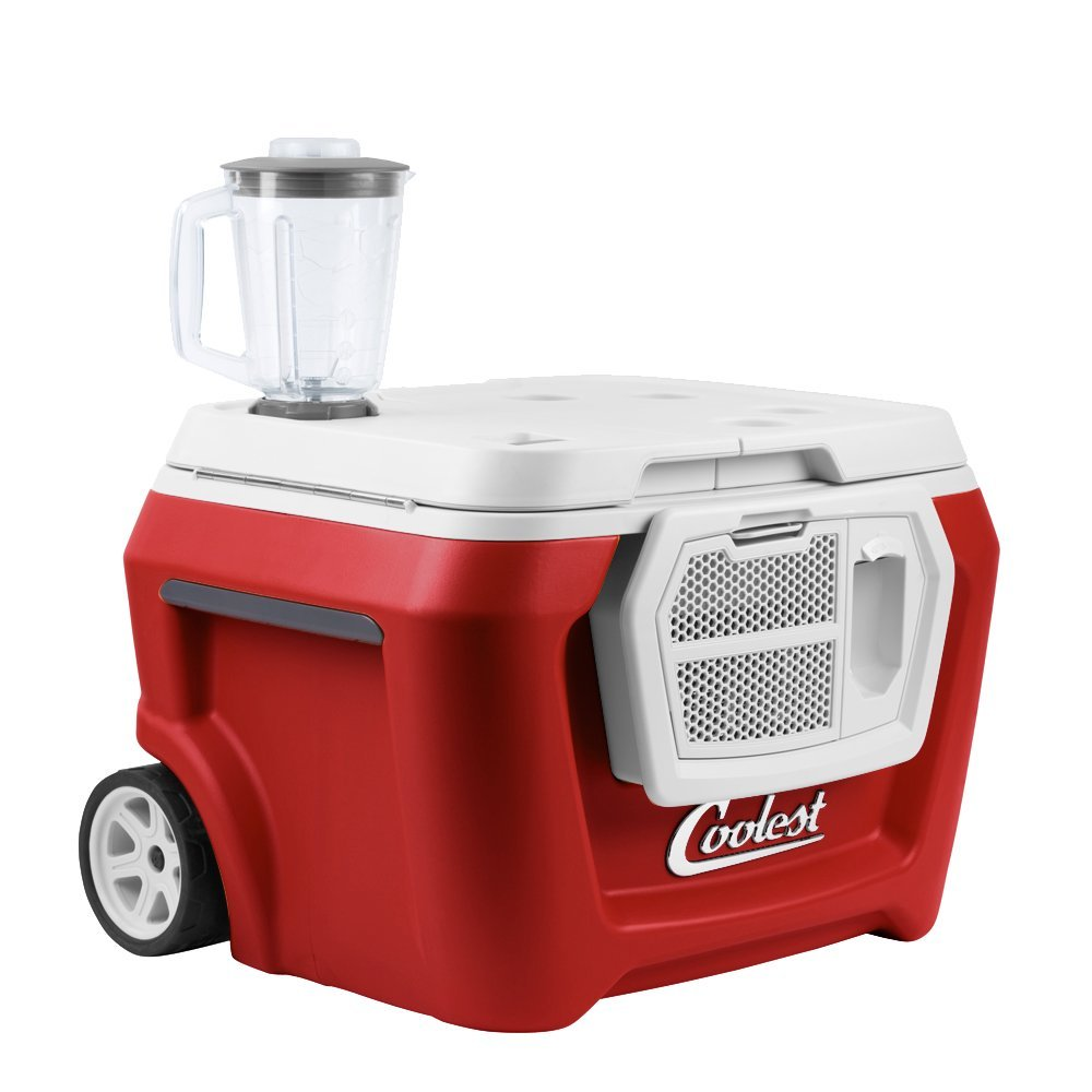 Coolest Cooler - Haven't you heard of the Coolest Cooler? It's water-proof, comes with a bluetooth speaker, has a built-in ice crushing blender and an extra usb outlet.