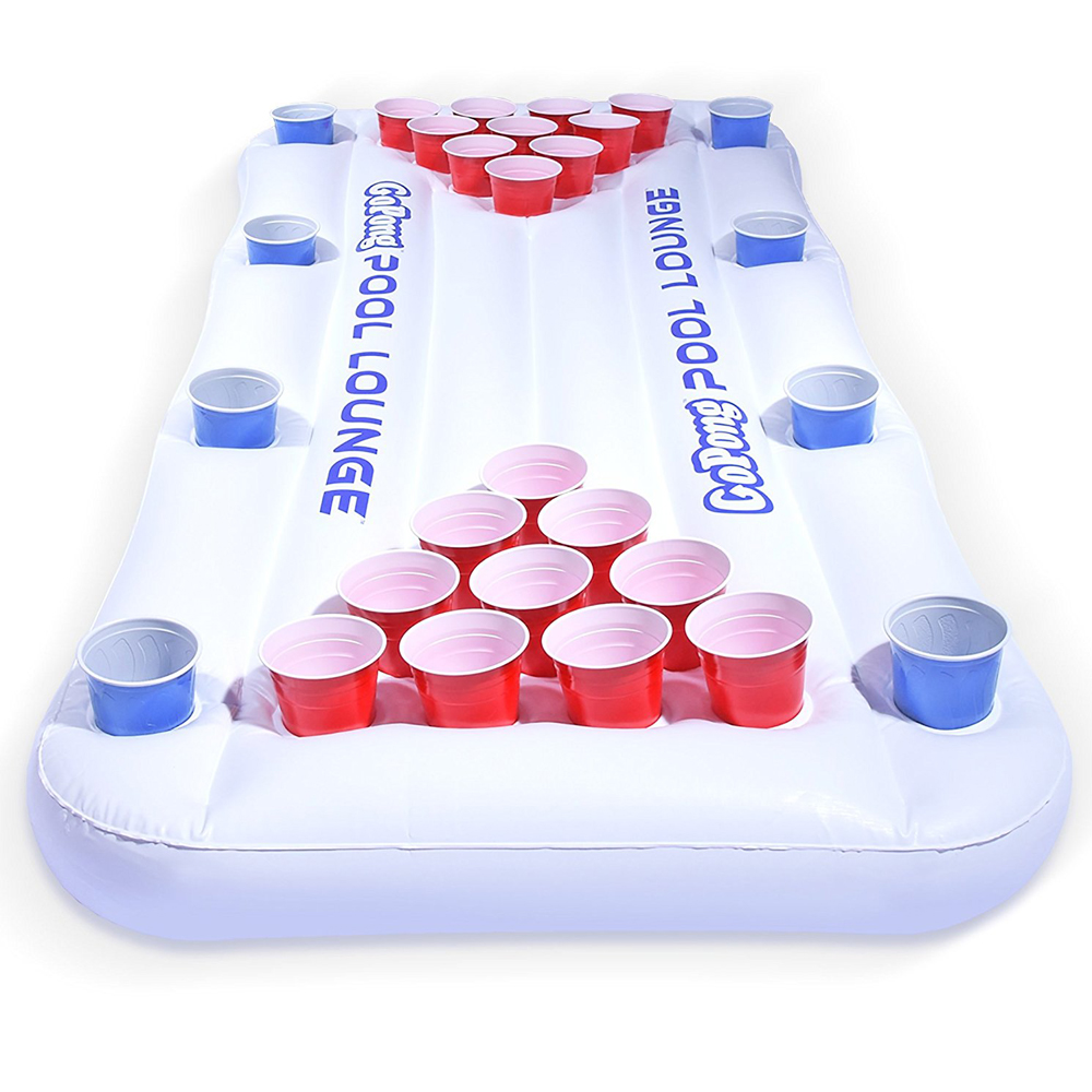 Pool Beer Pong - Take your beer pong to a whole new level. One of fun things to do in a pool party. It can serve you as a floater as well.