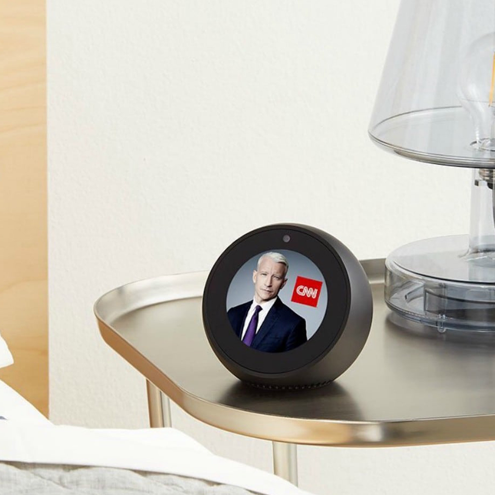 Amazon Echo Spot - Your table secretary, offering you more features like listening to audible books, watching the news, add your to-do list or even your shopping list. Alexa is a top-notch intelligent device.