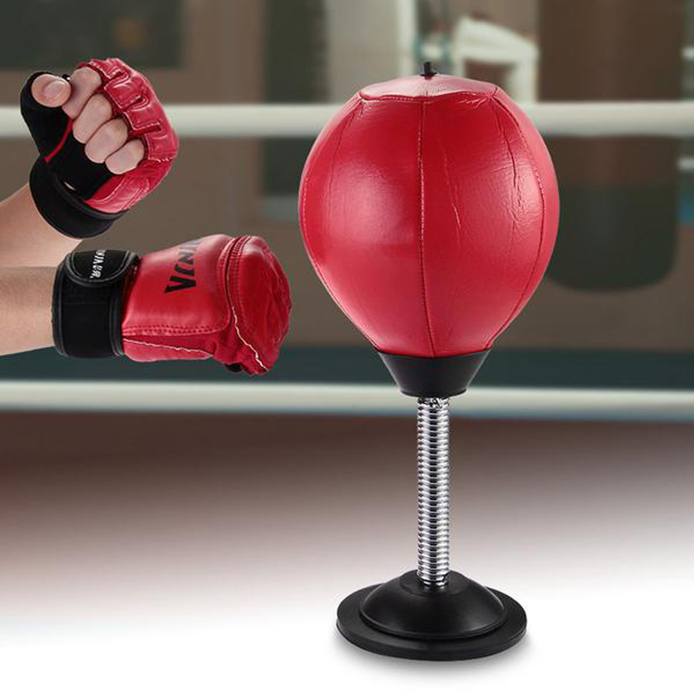 Desktop Punching Bag - Sometimes you just have to let that stress go in order to do more work effectively.