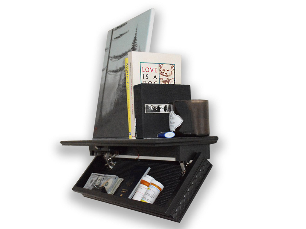 Quicksafe RFID Access Shelf   The feeling of having a discreet storage that no one knows about it is priceless.