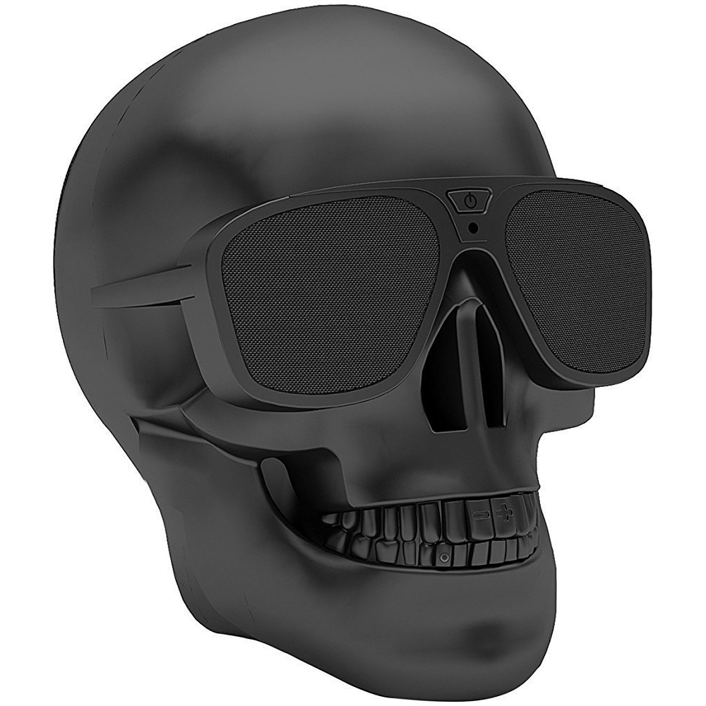 Skull Wireless Bluetooth Speaker - Aside from the outstanding design, the skull is discreetly a high-quality speaker. There's a button on the middle of the sunglasses to turn on and off.