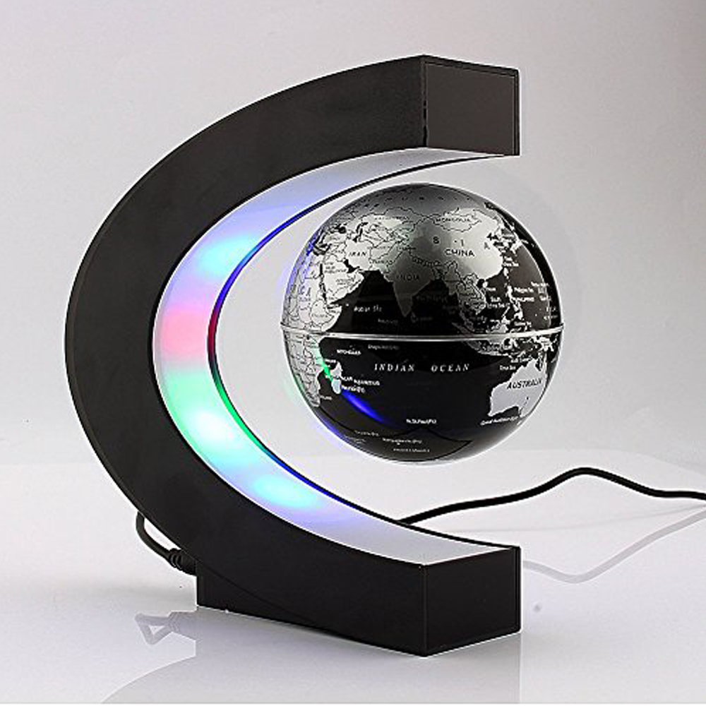 Floating Globe with LED - With the coloured LED lights and the floating globe, this looks really cool when the lights are off. This piece of art makes your table more inspiring.