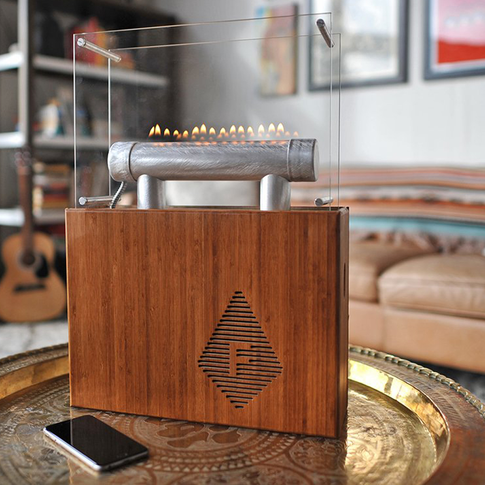 Fireside Audiobox - Ain't this something cool to display in your office with real-time interactive fire that dances to every single beat of your music.