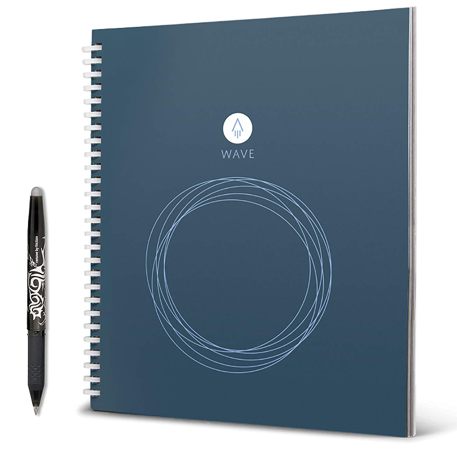 Rocketbook Wave - The last notebook you'll ever buy. Write anything and save it into your smartphone. It comes with frixion pens, it is erasable with paper moist towel.