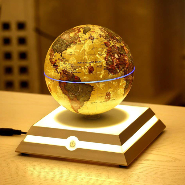 Floating Globe with Star Constellation - Explore the world with the eye-catching office decor. At night, switch on the LED light and it turns into a star constellation.
