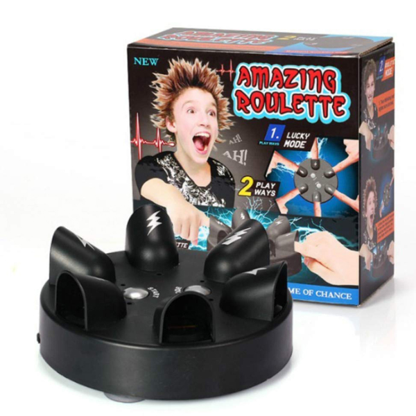 Shock Roulette - One of the high-thrilling fun games to have in a party. Put your fingers and get ready to get shocked!