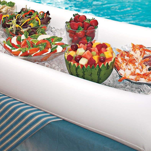 Inflatable Serving Bar - Always have an extra portable serving bar. Perfect for outdoor parties and easily inflatable.