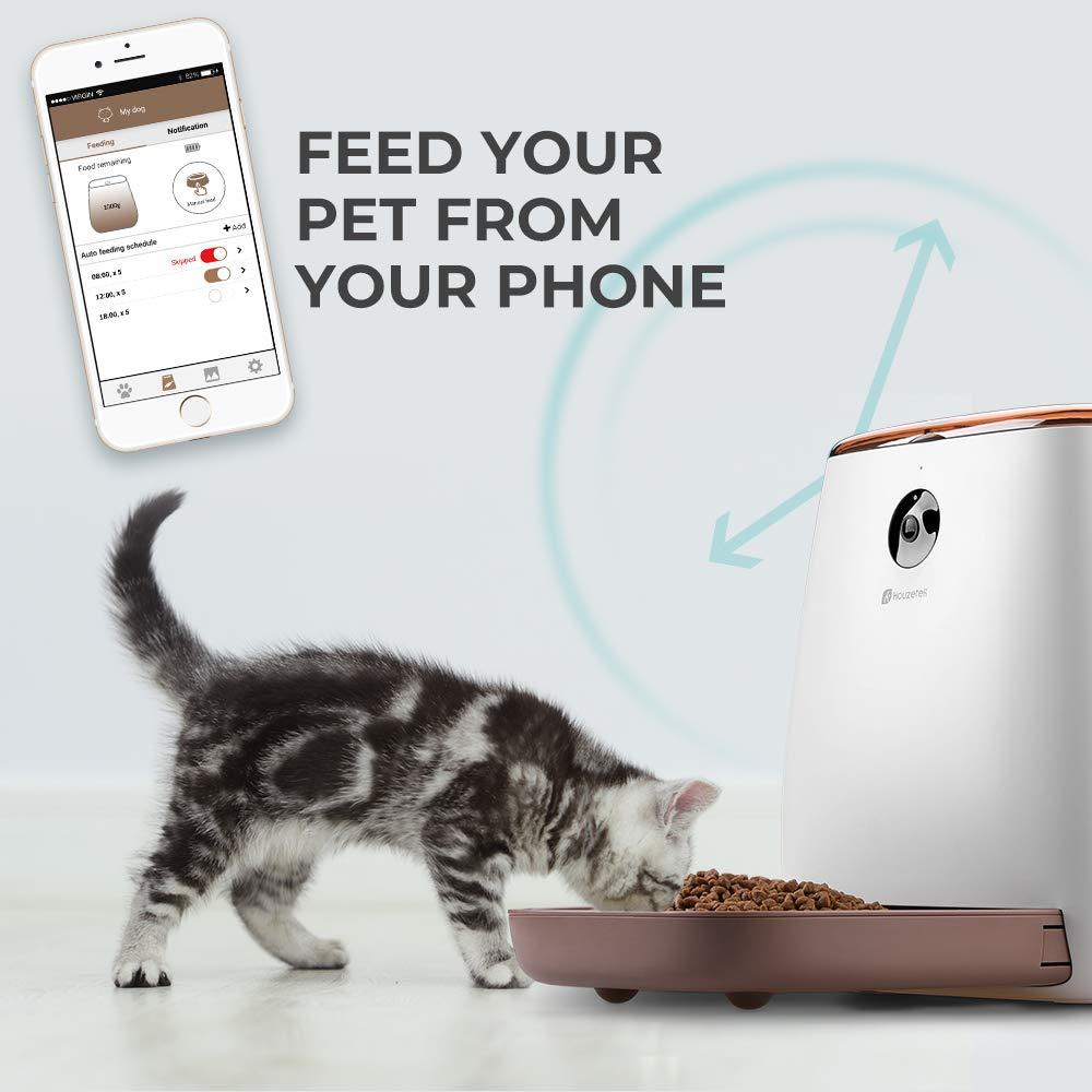 Houzetek Automatic Pet Feeder Dog Dispenser