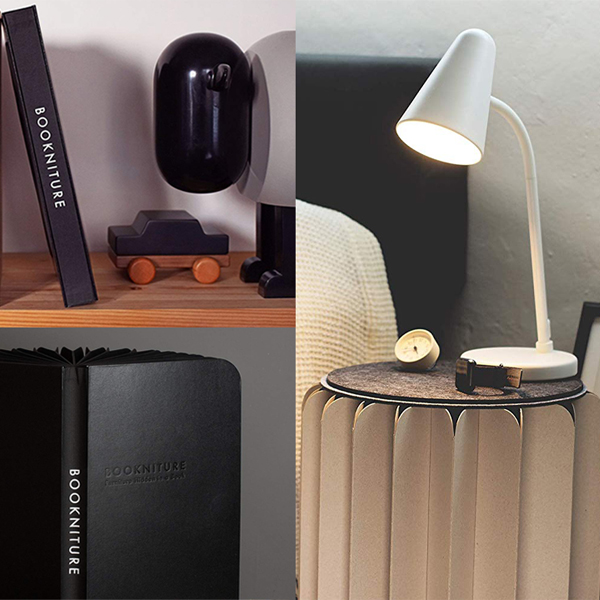Bookniture - Brilliant portable minimal book that can serve as a chair, night stand or foot rest.