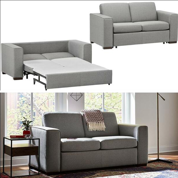 Easy pull Modern Sofa - Modern sofa bed that can easily blend in to your homes design and is always ready for the unplanned sleepovers, just remove the cushions and pull the bed.