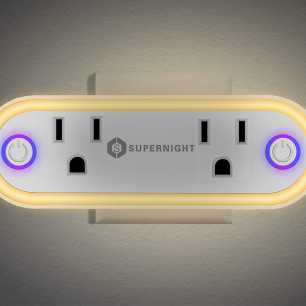 Supernight Connect Wifi - It's a 2-in-1 smart wifi plug that enables you to control the switches wirelessly with the aid of your smartphon.