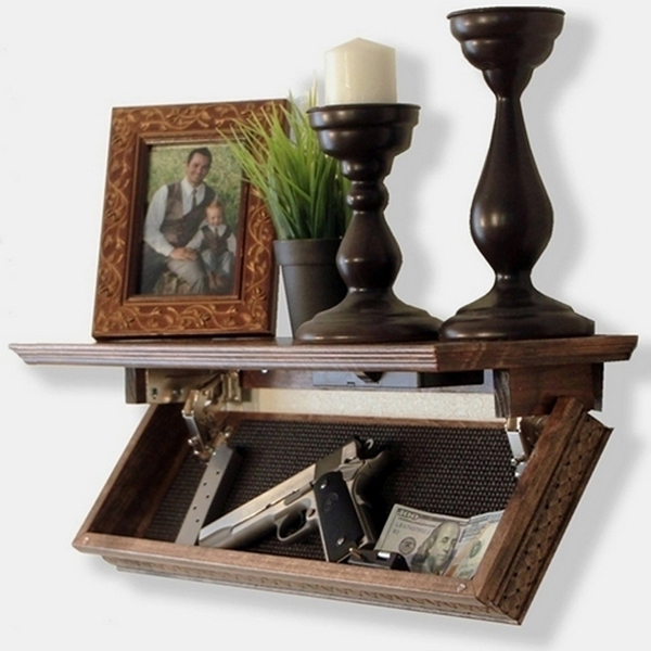 Quicksafe RFID Access Shelf - It is the furniture that you see in the movies like James Bond or Kingsman Secret Service. Comes with RFID card for easy access.