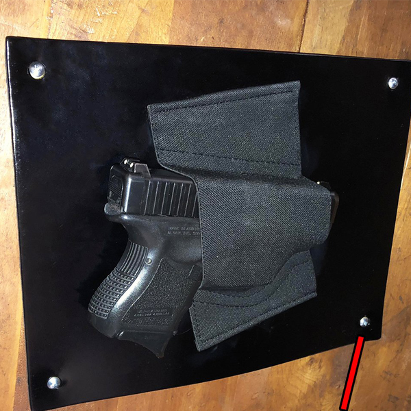 Safety Gun - Gun holster fits under table, kitchen table and cabinets. Always be ready.