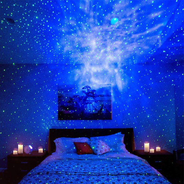 Night Lights - Stunning star projector. Have a relaxing and trippy lights in your room also good for parties.