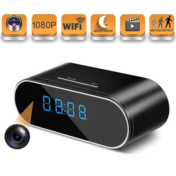 Digital Clock Hidden Spy Camera - Secret camera disguised in a digital clock which you can monitor 24/7 in your smartphone.