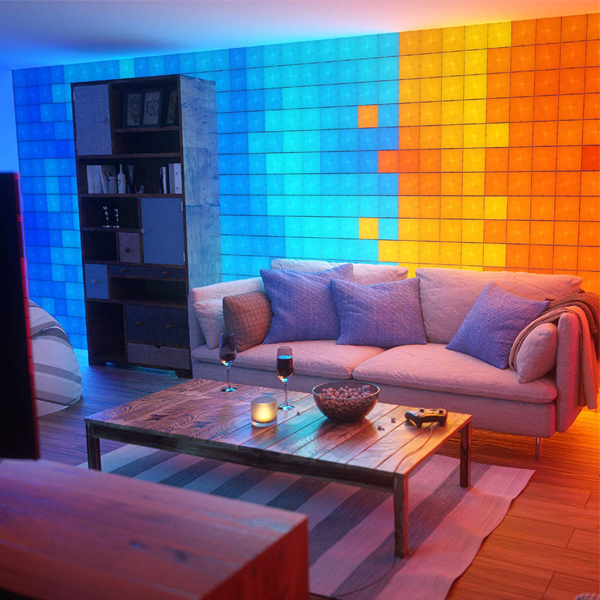 Nanoleaf Canvas - Control the colors of your wall. More than 16 million colors to choose that also syncs with the music you select.