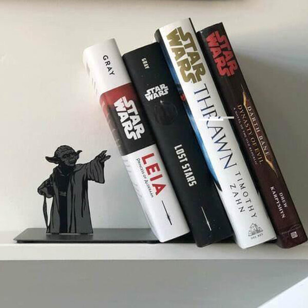 Yoda Bookend Desk - Display the collection of your most liked books with Master Yoda's powerful force.