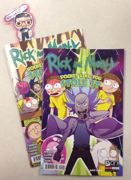 Rick and Morty: Pocket Like You Stole It #2 (of 5) - Norrin's PickMorty thinks he's hit the jackpot when he stumbles upon a secret Morty haven, run by Crazy Cat Rick. All the food and cozy body pillows he could want! But he soon discovers that there's a dastardly reason that the Mortys are so docile, and stumbles upon the grand secret of Morty battling. Plus: more Pocket Mortys cards in the back of every issue!