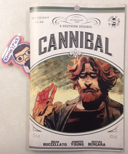 Cannibal #8 - Norrin's PickEND OF STORY ARCIn this conclusion to the second arc, the Hansen family decide the fate of a loved-one who is infected with the virus. But to carry out their plans, they must go through one of their own.