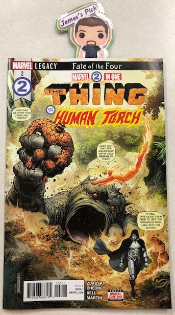 Marvel 2-in-One #2 - James' PickTHE FATE OF THE FOUR Part 2. What is THE SECRET OF REED RICHARDS? And is it deep within MONSTER ISLAND? Ben and Johnny are the only ones who can uncover it, unless DOOM beats them to it! THE FATE OF THE FOUR continues here!