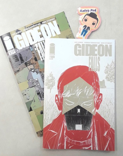 Gideon Falls #2 - Katie's PickWriter: Jeff LemireArtist: Andrea SorrentinoColorsist: Dave StewartLetterer: Steve WandsThe brand-new supernatural mystery series by the acclaimed team of Jeff Lemire (A.D. After Death) and Andrea Sorrentino (Green Arrow) continues. The mysteries of the