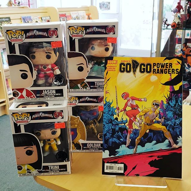 #New #gogopowerrangers out today issue #14 get your power ranger #pops here as well, we got all the #rangers #ritarepulsa and #goldar  #comics #popculture