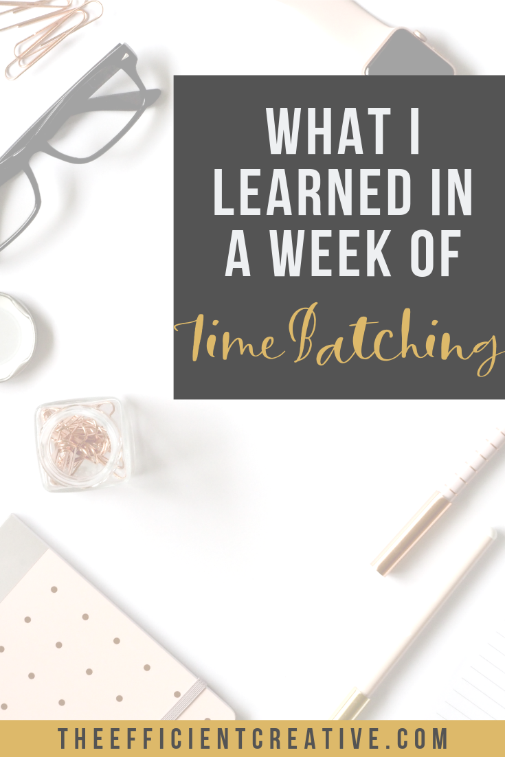 What I Learned in a Week of Time-Batching