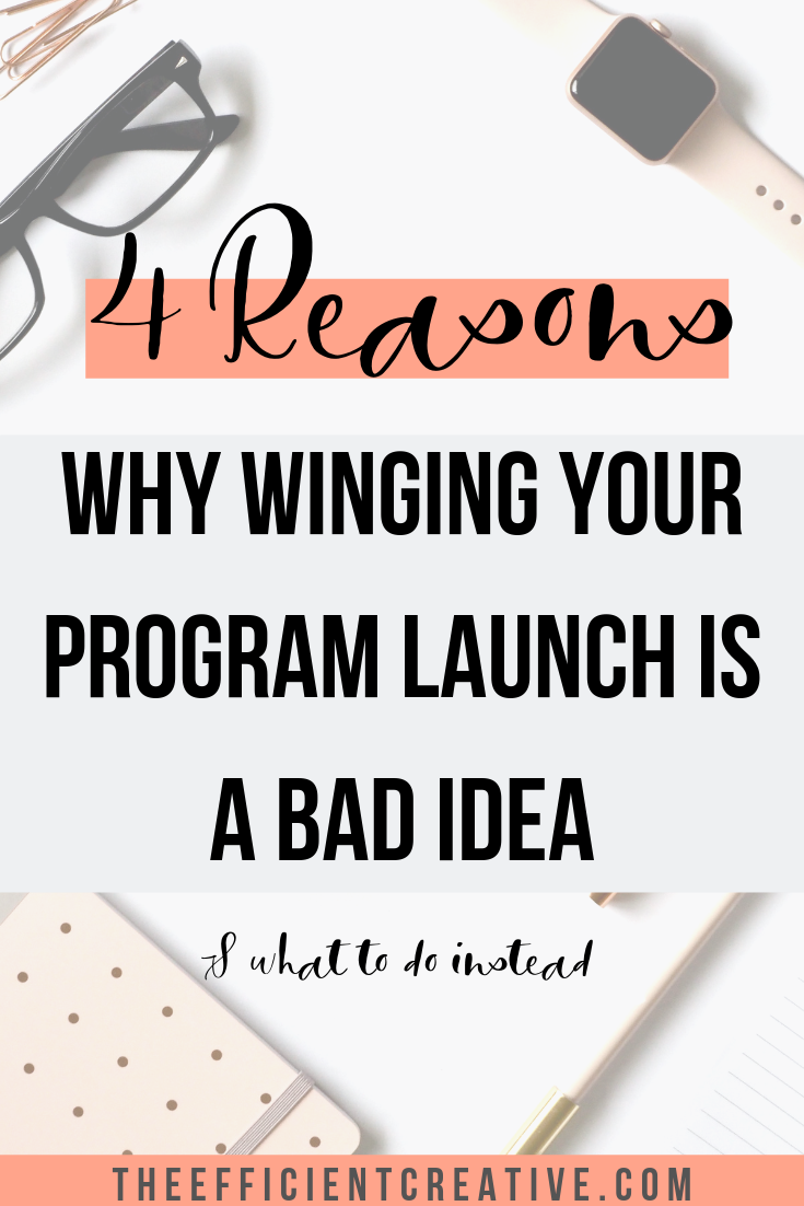 4 Reasons Why Shouldn't Wing Your Launch