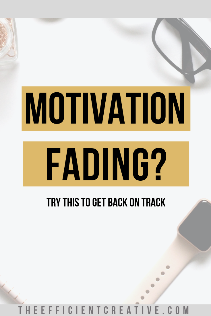 Try this tip to get your motivation back on track