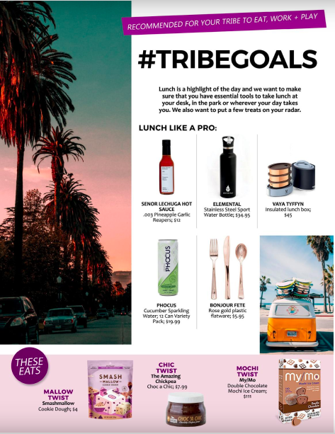 "Athleisure Magazine   #TRIBEGOALS   ""Lunch like a pro."""