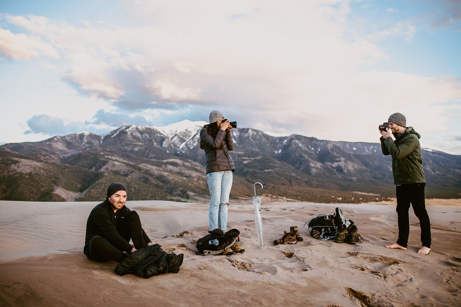 Photographers in the Great Sand Dunes