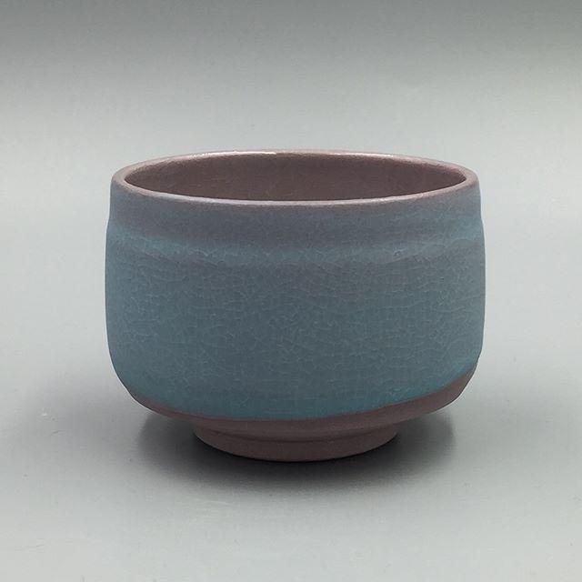 Purple porcelain tea bowls with mermaids kiss blue glaze  #clay #pottery #handmade #ceramics #ceramicart #wheelthrown #coloredclay #porcelain #contemporaryceramics #instaceramics #theclaystudiophl  #chuckmorrisceramics
