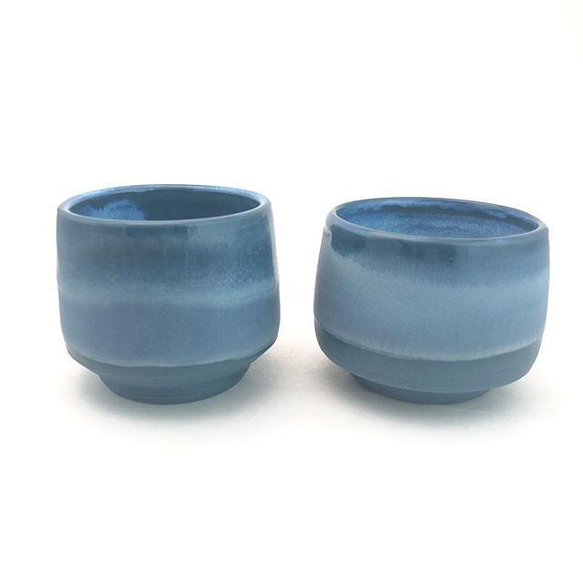 Some recent blue and black porcelain... . . . #porcelain #pottery #handmade #chuckmorrisceramics #ceramics #ceramicart #coloredclay #coloredporcelain #clay #glaze #wheelthrown #pottery #contemporaryceramics #instaceramics #theclaystudiophl #tcs_associates #artist  #madeatBOK