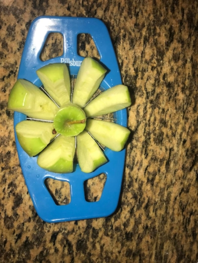 My apple slicer came in handy. It works great! I bought it from the dollar store.