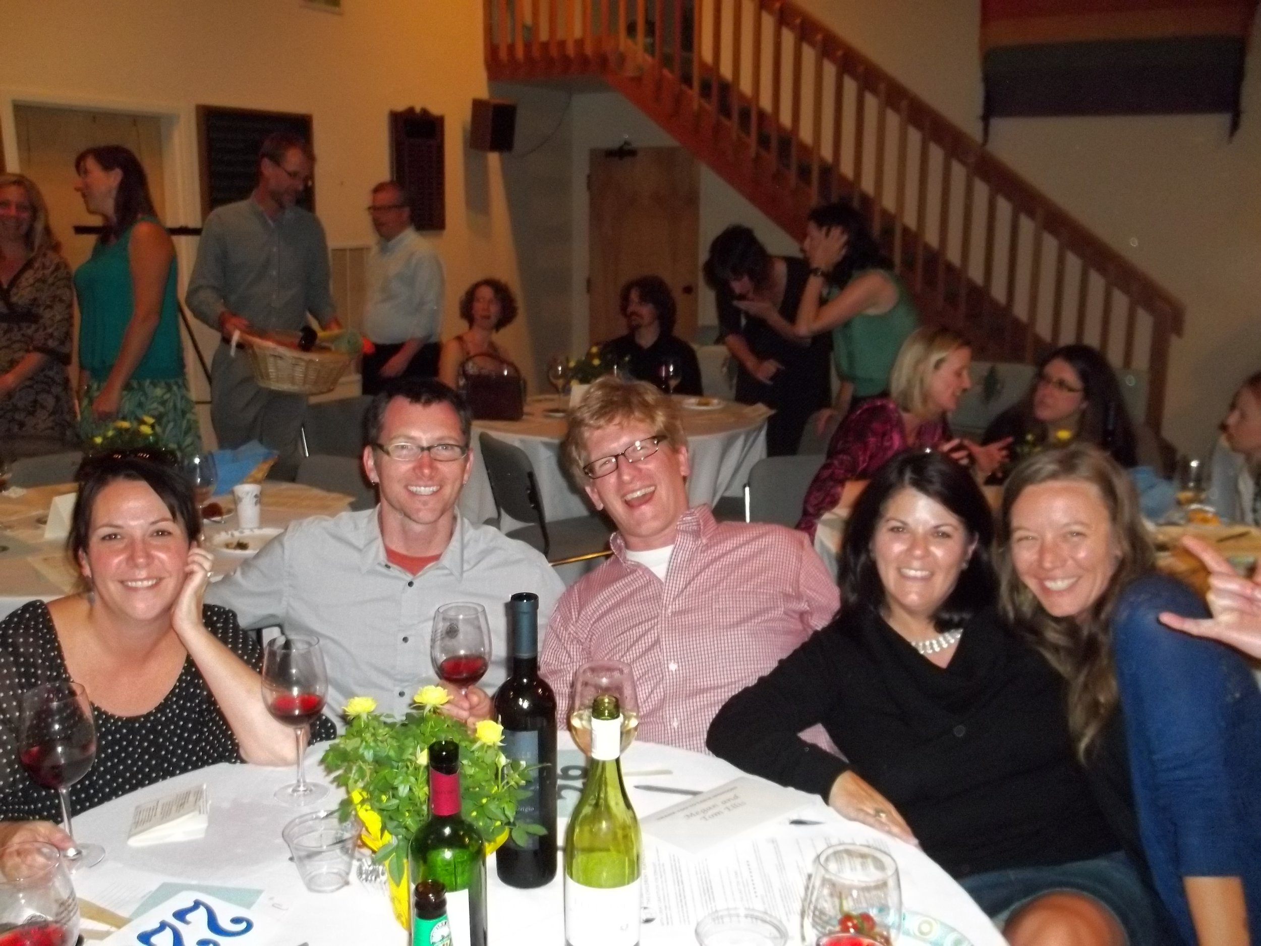 Happy table at Playhouse 10th anniversary party.JPG