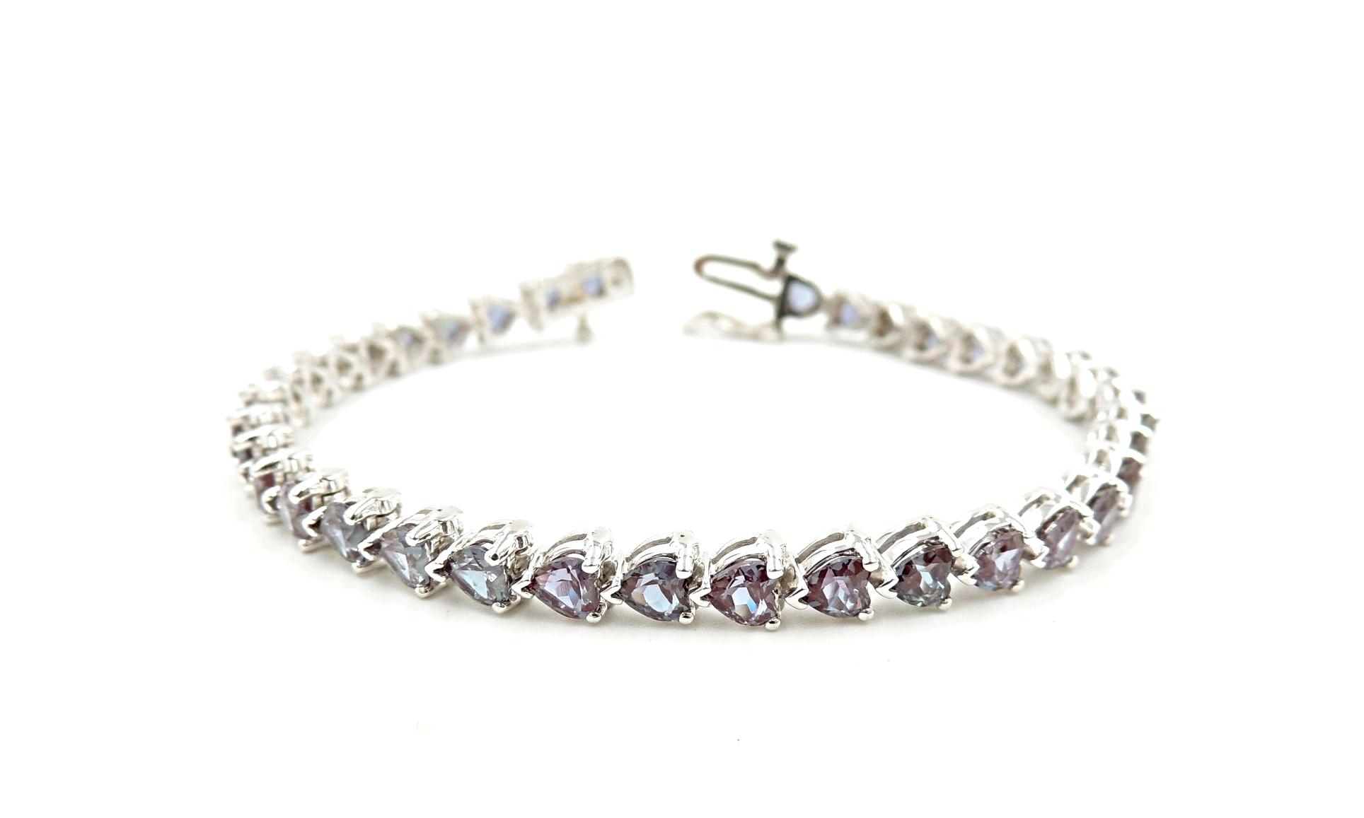 Heart Shape Alexandrite Bracelet