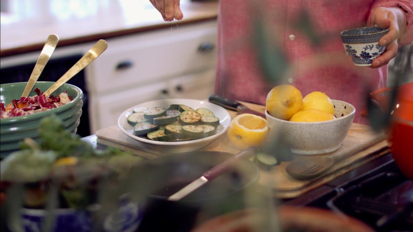 Julia Turshen Now & Again Cooking Kitchen Scene