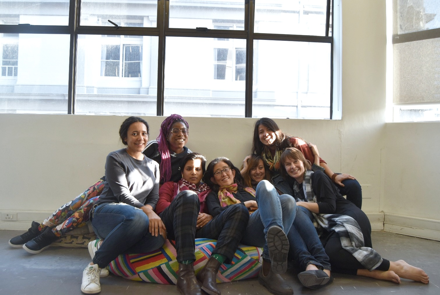 The Cape Town UnSchool team (pictured from left, Andi, Vanessa, Wisaal, Vicky, myself, Camila and Thessa).