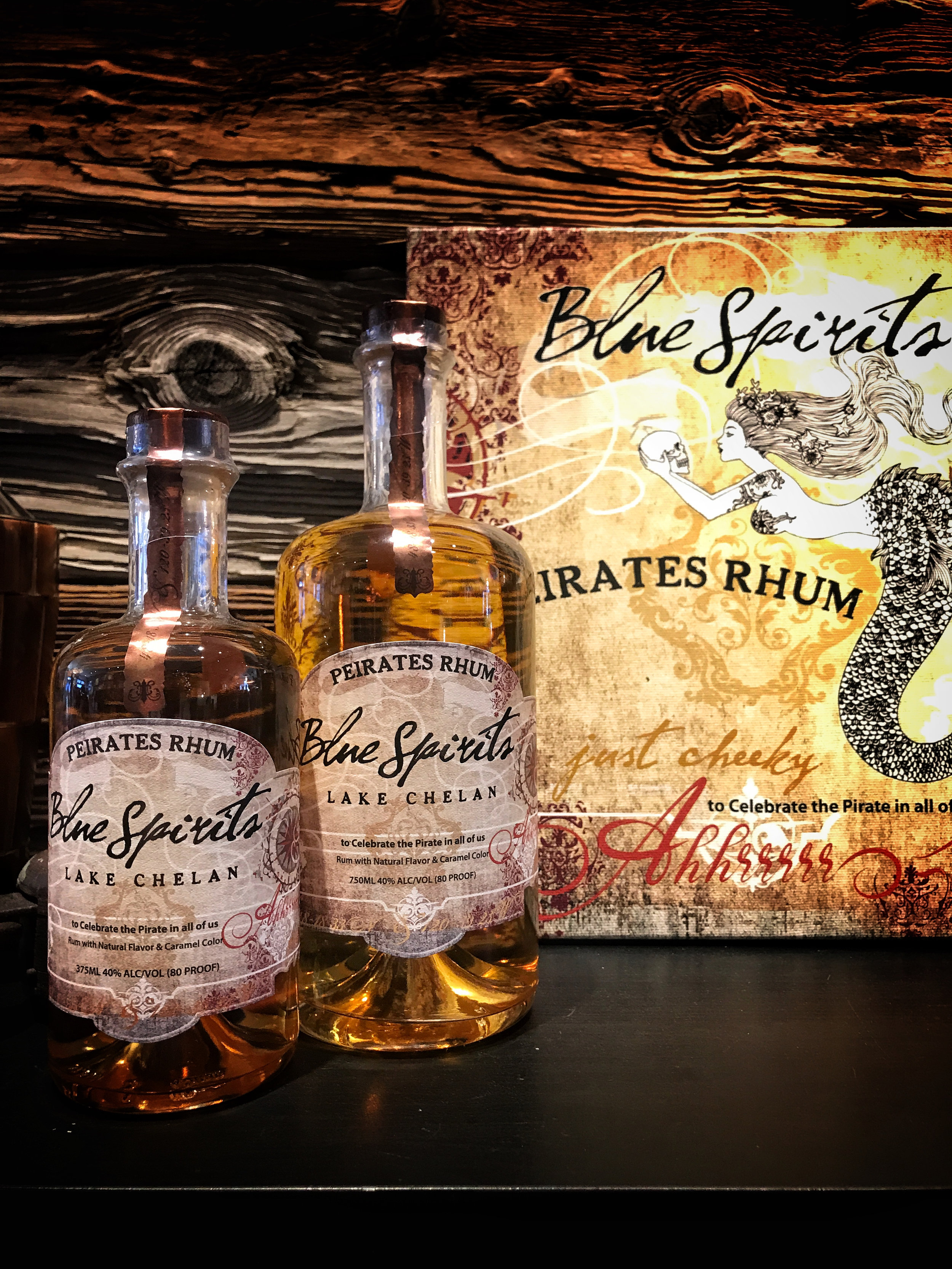 The bottle artwork for Blue Spirits is stunning. Don't miss a trip to their tasting room.