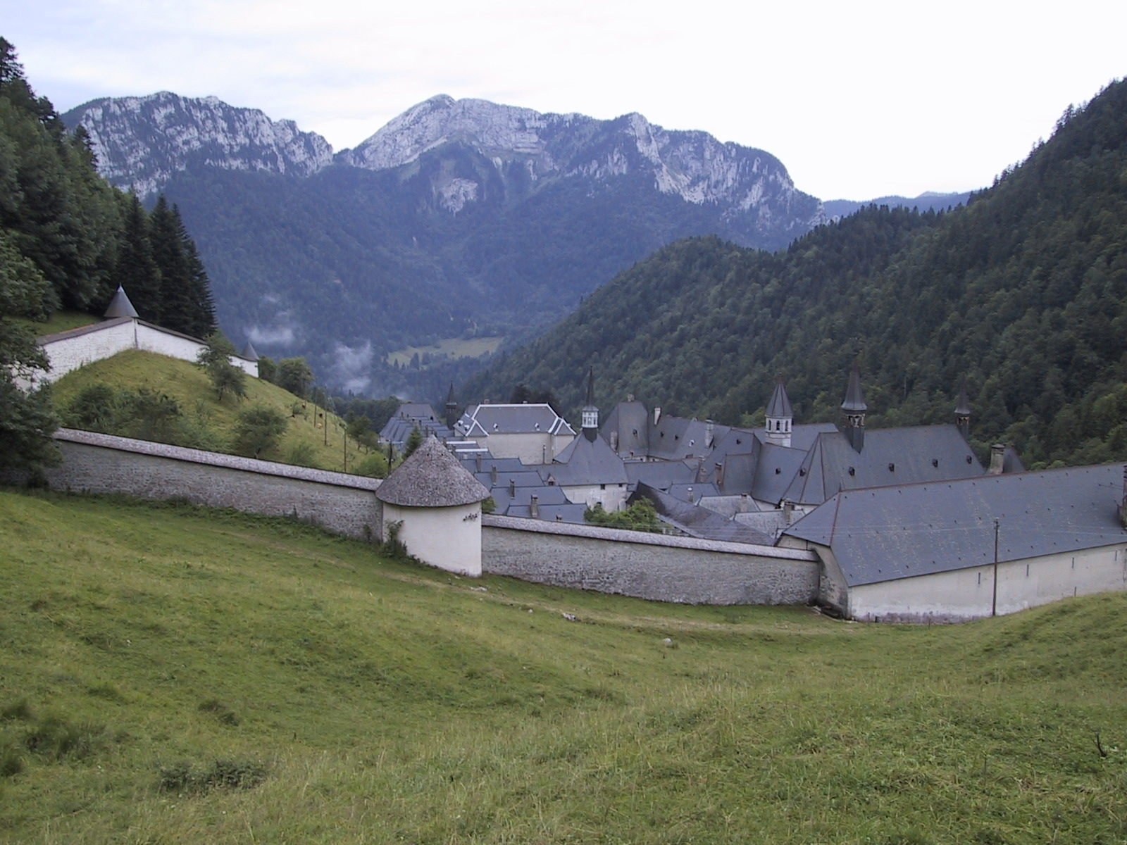 The Grand Chartreuse Monastery located high in the French Alps.