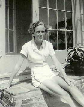 Julia at the family home as a young adult.