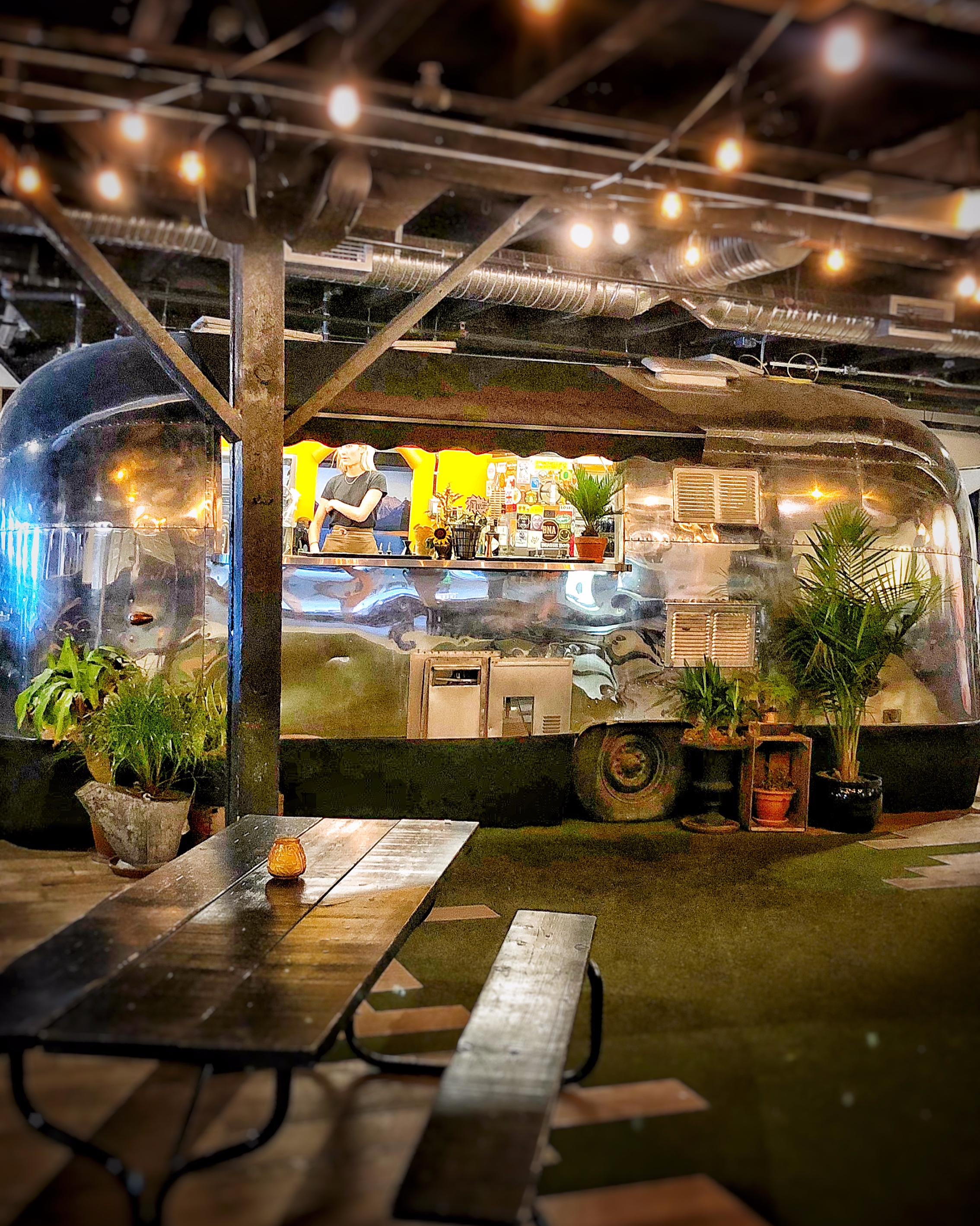 Yeah, that's an airstream bar inside of a bar (BNA Brewing)