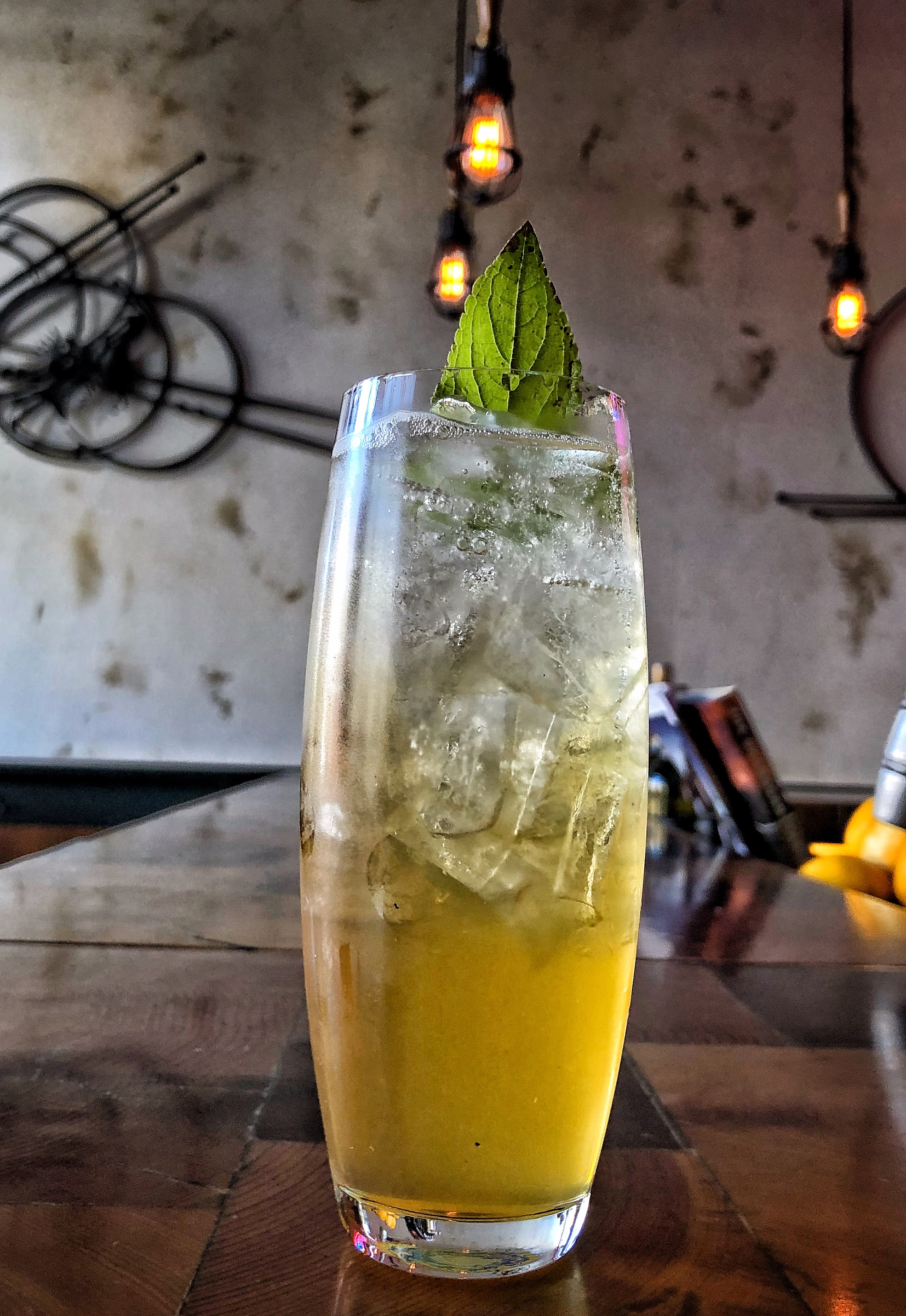 A refreshing pineapple cocktail at Micro