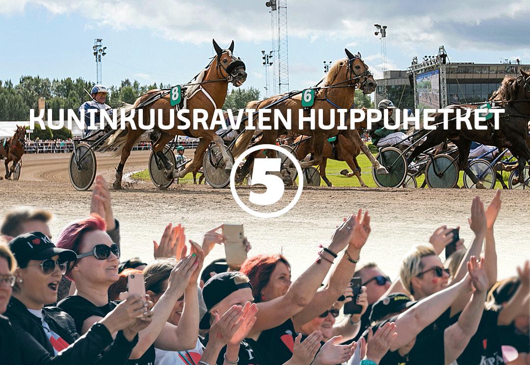 Rovaniemen Kuninkuusravien tähtihetkistä koostelähetykset TV5-kanavalla 28.-29.7.