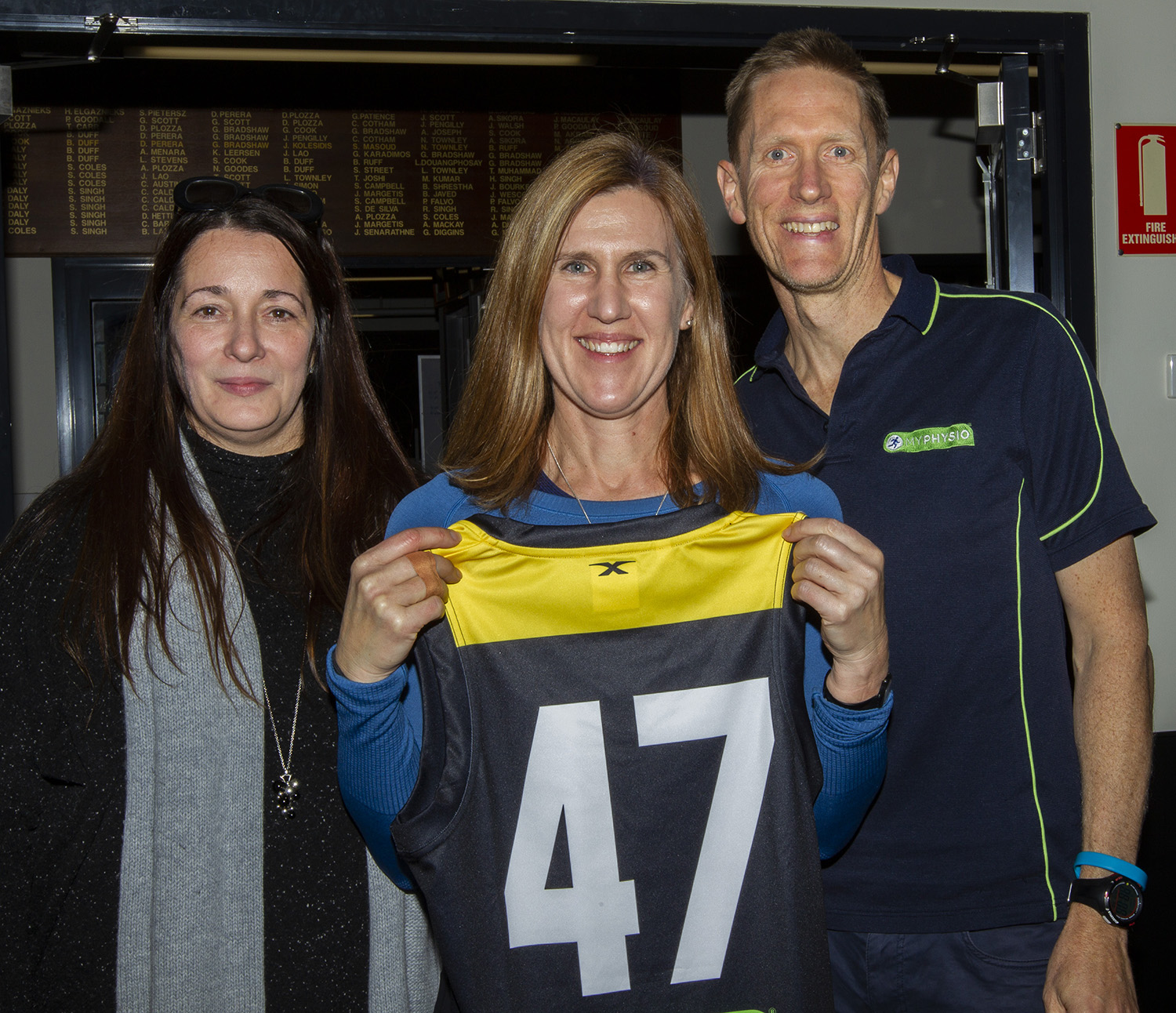 Receiving her jumper at the first presentation night, Robyn Nichols is full of anticipation for the challenging season ahead.