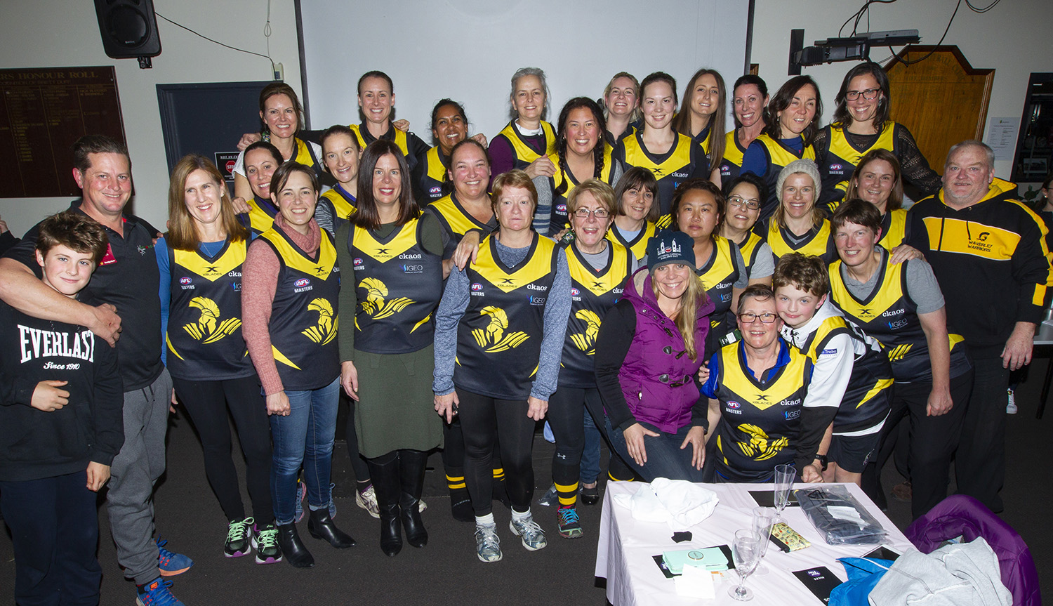 The team at the jumper presentation night. Whilst the line up varied through the season, the level of enthusiasm was constant.